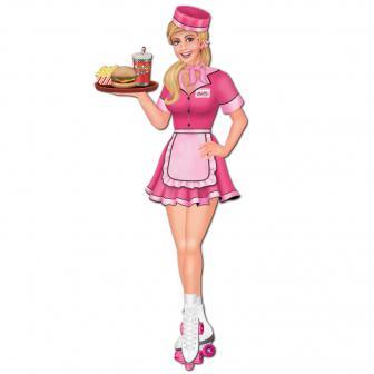 Wanddeko American Diner Roller Girl 89 cm