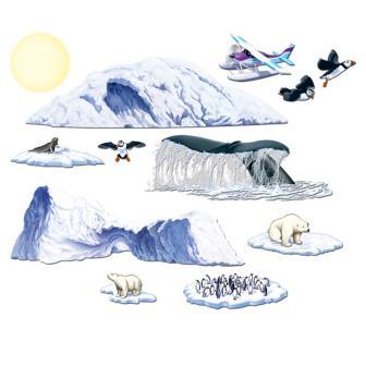 Wanddeko Antarktiswelt 12-tlg. 149 cm