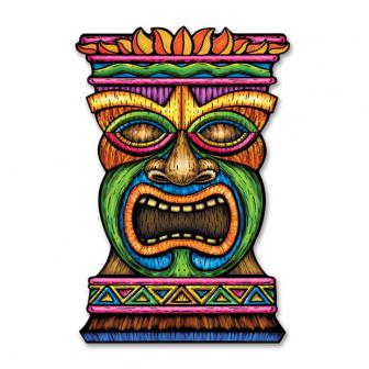 "Wanddeko ""Große Tiki Maske"" 93 cm"