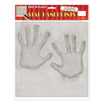 "Selbstklebende Raumdeko ""Handabdrücke"" 29,5 cm"
