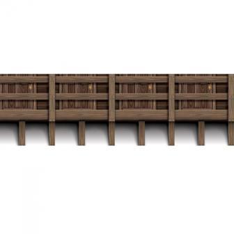 """Wanddeko """"Holzbalkon"""" 9,1 m"""