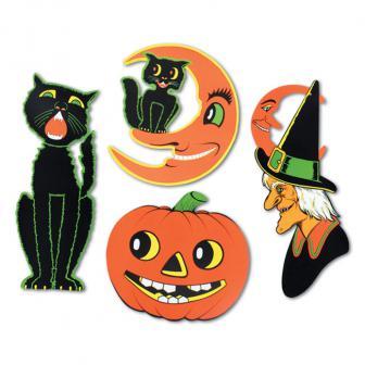 "Wanddeko ""Schauriges Halloween"" 4-tlg."