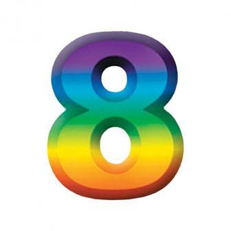 Wanddeko-Zahlen in Regenbogenfarben 3D 27 cm-8