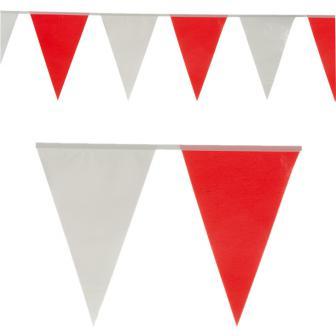 Wetterfeste Wimpelgirlande rot-weiß 10 m