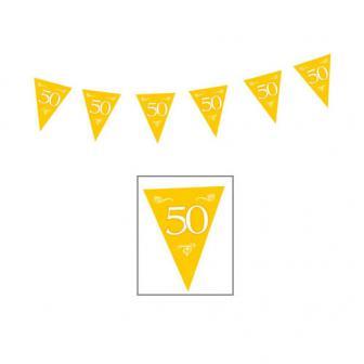 "Wimpel-Girlande ""50"" 10 m"