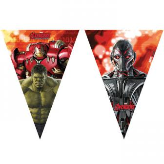 """Wimpel-Girlande """"Avengers - Age of Ultron"""" 2,3 m"""