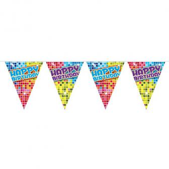 "Wimpel-Girlande ""Happy Crazy Birthday"" 6 m"