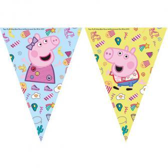 """Wimpel-Girlande """"Peppa Pig"""" 2,3 m"""