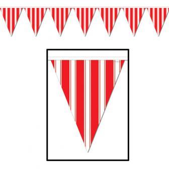 Wimpel-Girlande rot-weiß 3,7 m