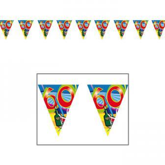 "Wimpel-Girlande 60. Geburtstag ""Partyspaß"" 10 m"