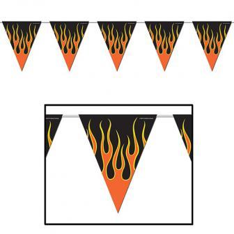 """Wimpel-Girlande """"Gefährliche Flammen"""" 370 cm"""