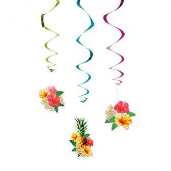 """Wirbel-Deckenhänger """"Sommerlicher Hibiskus"""" 3er Pack"""