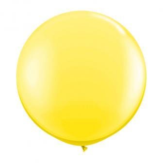 XL Luftballon einfarbig-gelb