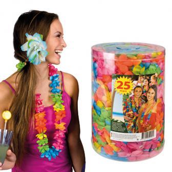 XL Paket Hawaii Blumenketten 25er Pack