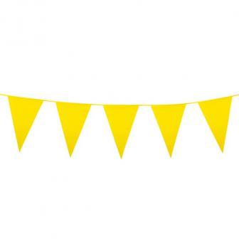 XXL Wimpel-Girlande einfarbig 10 m-gelb