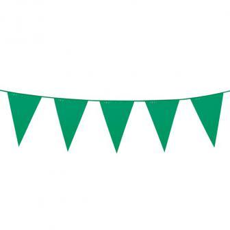 XXL Wimpel-Girlande einfarbig 10 m-grün