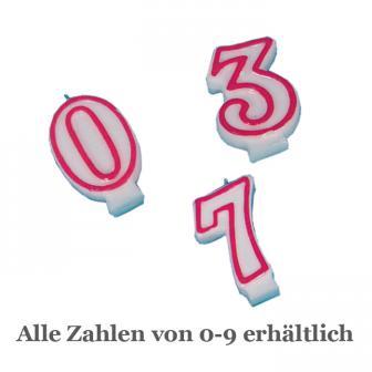 Zahlenkerze zum Geburtstag