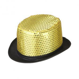"""Zylinderhut """"Pailletten""""-gold"""