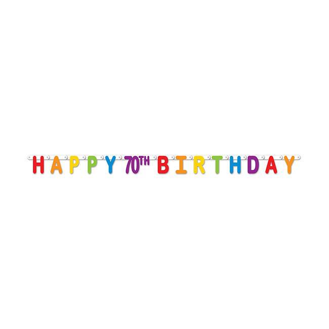 Buchstaben Girlande Happy 70th Birthday