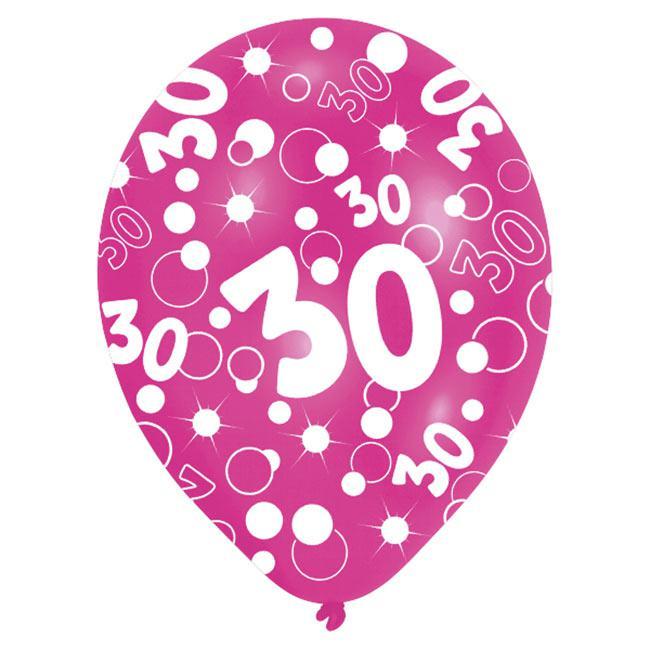 bunte luftballons 30 geburtstag bubbels 6er pack. Black Bedroom Furniture Sets. Home Design Ideas