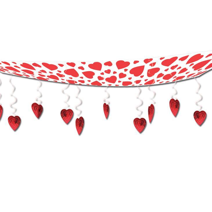 Decken deko roter herzchen himmel 3 7 m g nstig kaufen bei for Decken deko