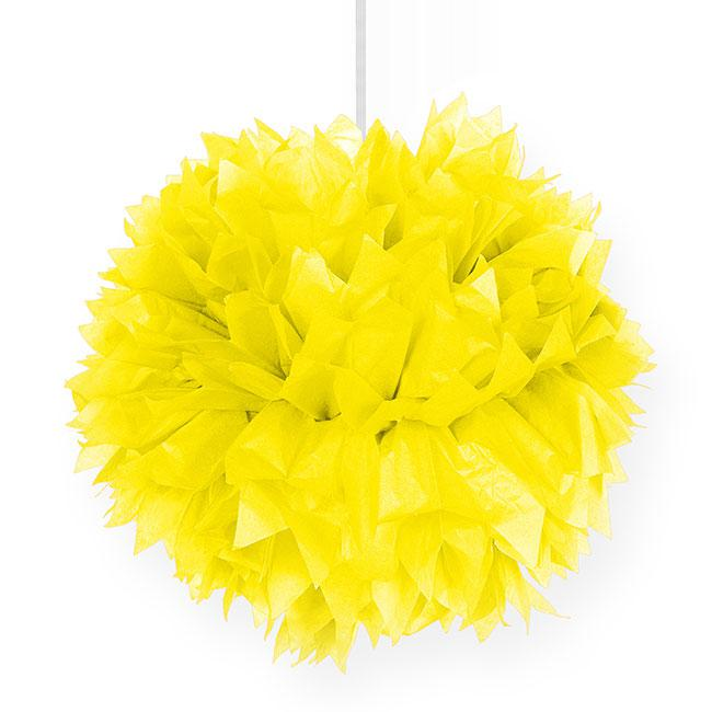 deckendeko pom pom aus wabenpapier 30 cm gelb g nstig. Black Bedroom Furniture Sets. Home Design Ideas