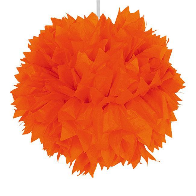 deckendeko pom pom aus wabenpapier 30 cm orange g nstig. Black Bedroom Furniture Sets. Home Design Ideas