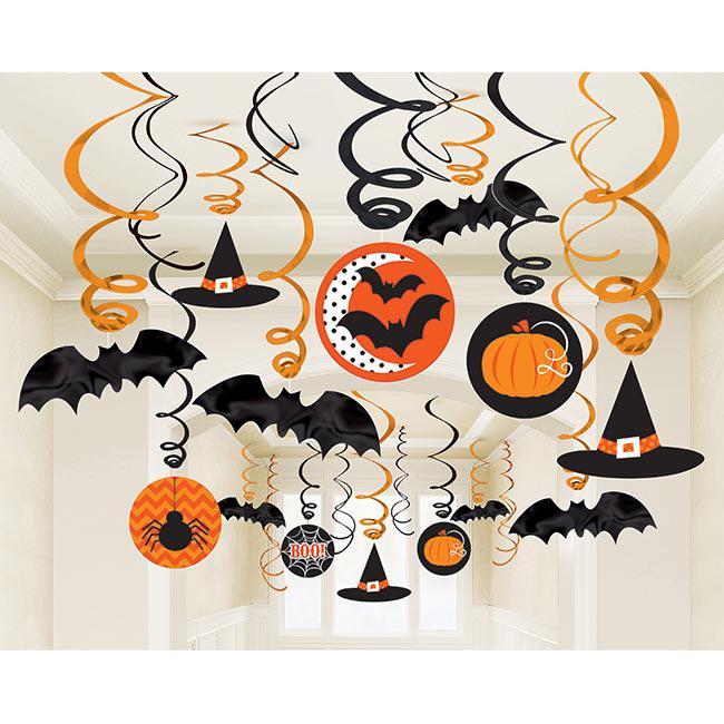 Halloween Fotowand.Deckenhanger Halloween Spass 30 Tlg Gunstig Kaufen Bei
