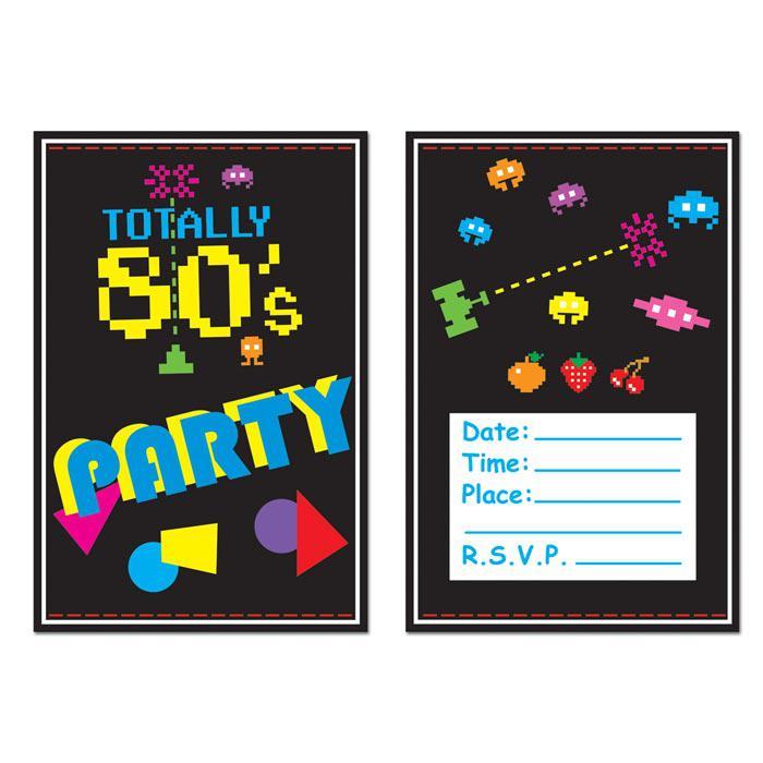 Einladung 80er party