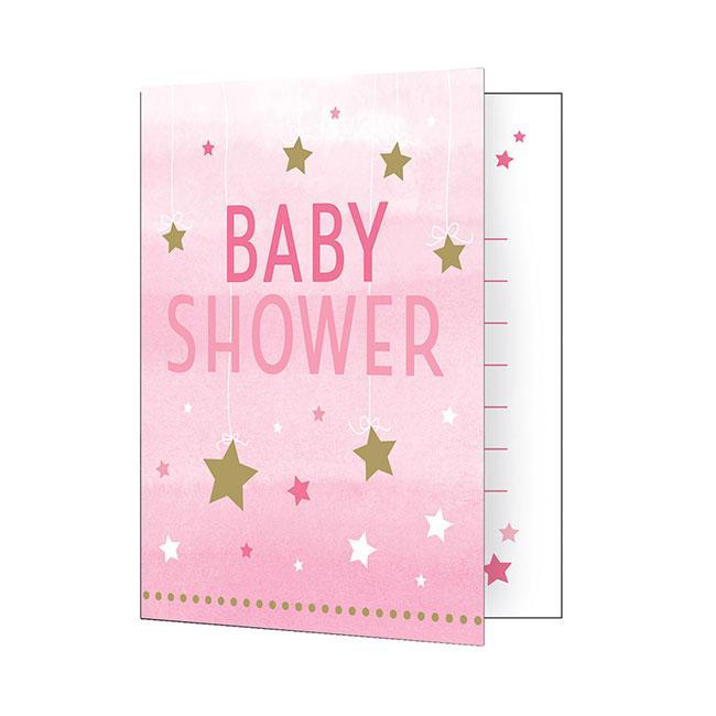 """einladungskarten baby party """"little star"""" mit umschlag 8er"""