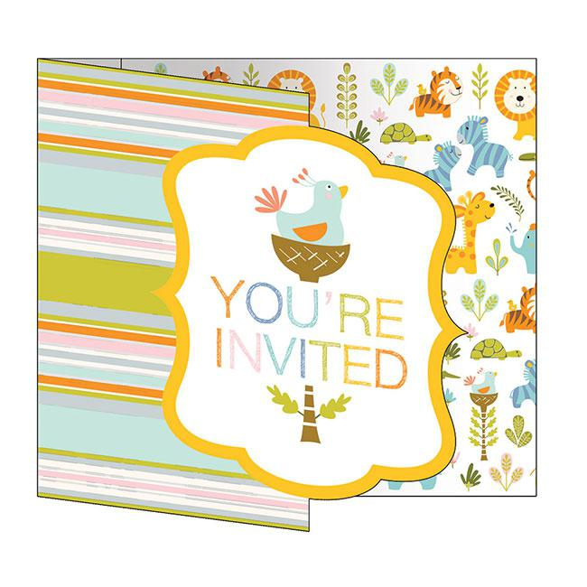 """einladungskarten """"babys wilde dschungel party"""" mit"""