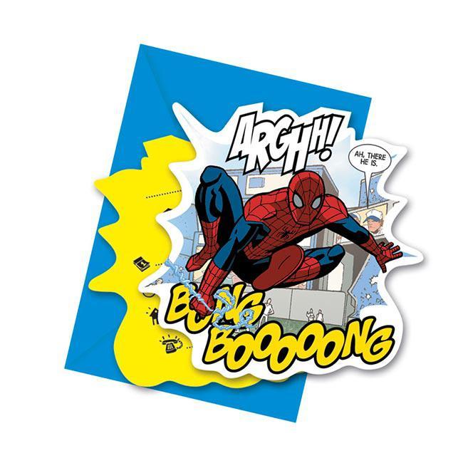 """einladungskarten """"spiderman comic style"""" mit umschlag 6er pack, Einladungsentwurf"""