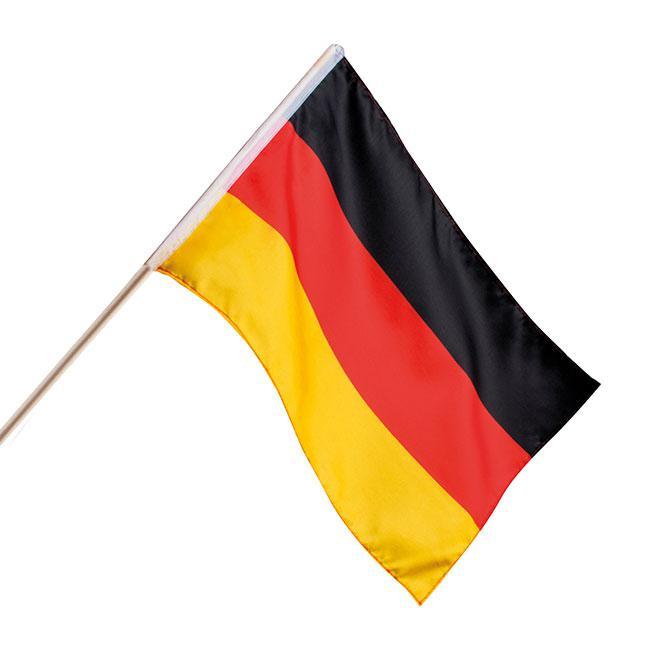 fahne deutschland mit stab 30 x 45 cm g nstig kaufen bei. Black Bedroom Furniture Sets. Home Design Ideas