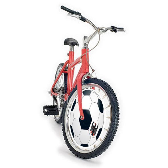 fahrrad zierfelgen fu ball deutschland 40 cm 4 tlg g nstig kaufen bei. Black Bedroom Furniture Sets. Home Design Ideas