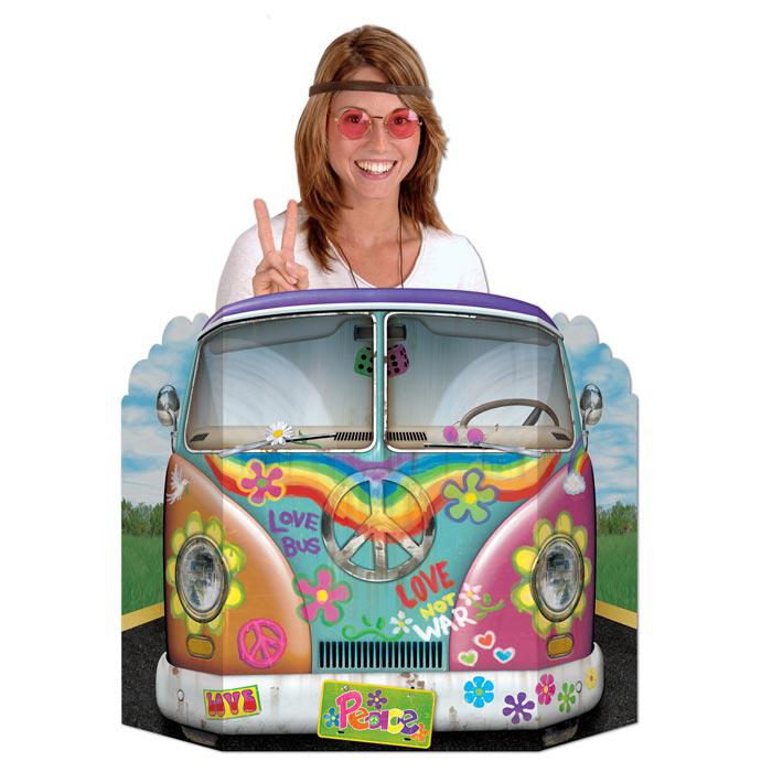 fotowand hippie bus 94 cm g nstig kaufen bei. Black Bedroom Furniture Sets. Home Design Ideas