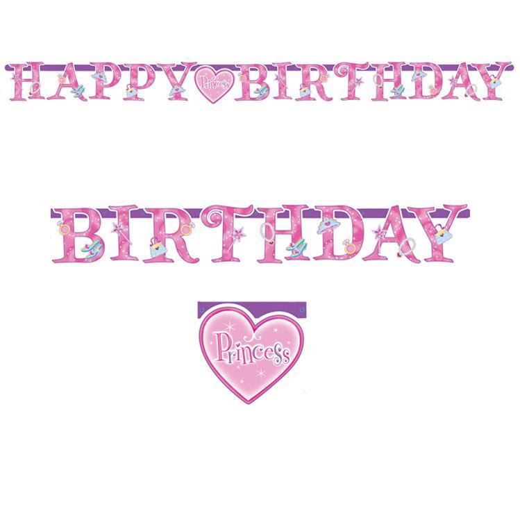 Girlande Happy Birthday Princess