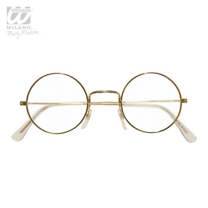 goldene brille mit kreisrunden gl sern g nstig kaufen bei. Black Bedroom Furniture Sets. Home Design Ideas