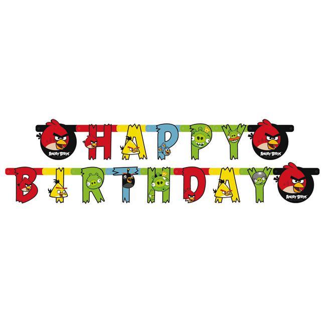 "Happy Birthday-Girlande ""Angry Birds"" 1,8 M Günstig Kaufen"