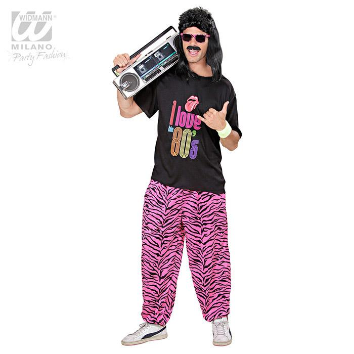 herren hose 80s baggy pants pink zebra g nstig kaufen. Black Bedroom Furniture Sets. Home Design Ideas