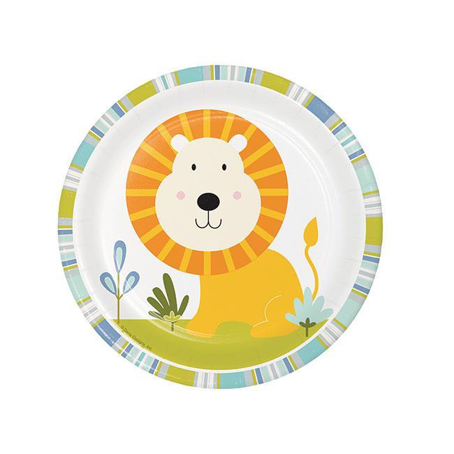 Kleine Pappteller Mit Lowen Babys Wilde Dschungel Party 8er Pack
