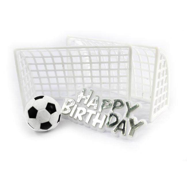 Kuchendeko Fussballtor Happy Birthday 4 Tlg Gunstig Kaufen Bei