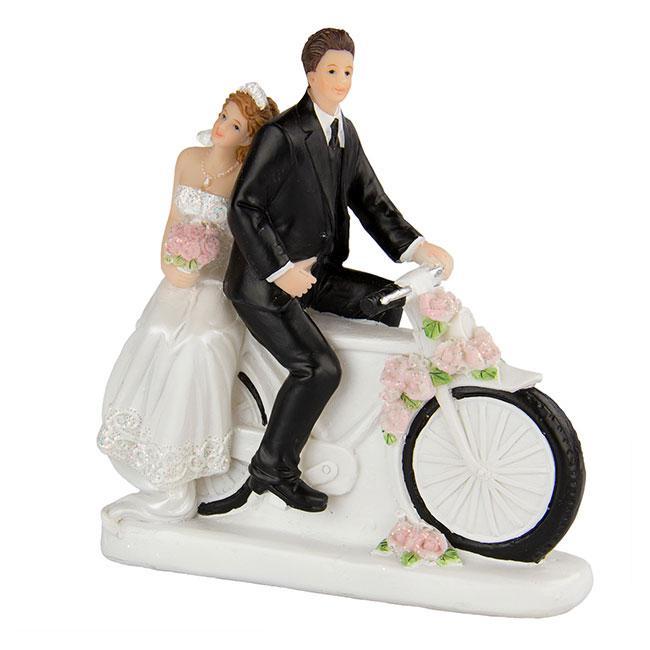 Kunstharz dekoration ehepaar mit fahrrad g nstig kaufen bei - Dekoration fahrrad ...