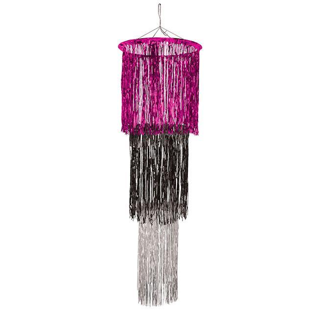 lametta deckendeko kronleuchter pink schwarz silber 122. Black Bedroom Furniture Sets. Home Design Ideas
