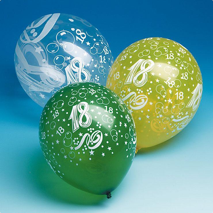 luftballons 18 geburtstag 5er pack g nstig kaufen bei. Black Bedroom Furniture Sets. Home Design Ideas