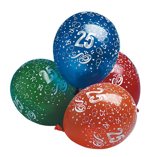 luftballons 25 geburtstag 5er pack g nstig kaufen bei. Black Bedroom Furniture Sets. Home Design Ideas