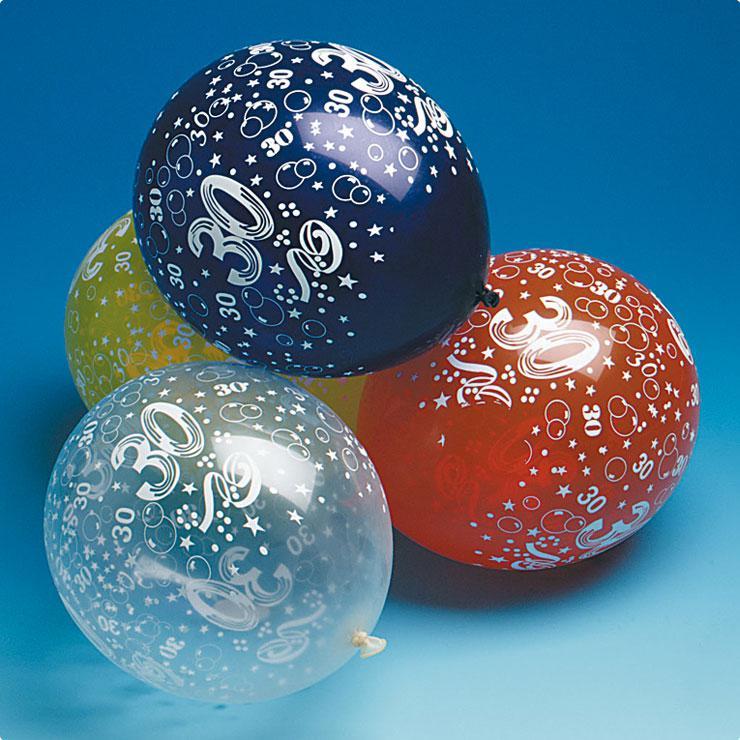 luftballons 30 geburtstag 5er pack g nstig kaufen bei. Black Bedroom Furniture Sets. Home Design Ideas