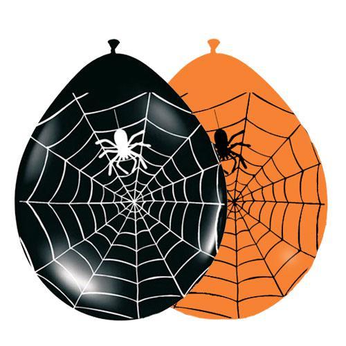 luftballons spinnennetz 30 cm 8 tlg g nstig kaufen bei. Black Bedroom Furniture Sets. Home Design Ideas