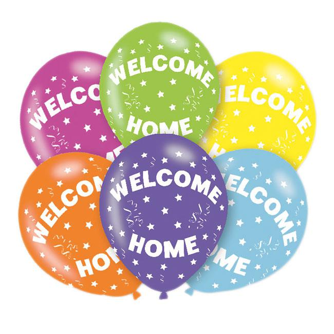 Luftballons Willkommen Zuhause 6er Pack G Nstig Kaufen