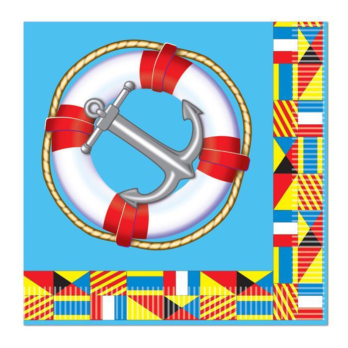 maritime servietten anker und rettungsring 16er pack g nstig kaufen bei. Black Bedroom Furniture Sets. Home Design Ideas