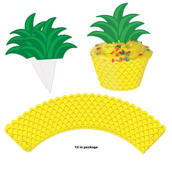 "Muffin-Deko Set /""Ananas/"" 24-tlg."